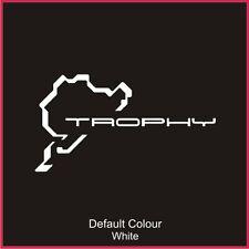 Trophy Nurburgring Calcomanía de circuito de carreras, pista, Vinilo, etiqueta engomada, gráficos, N2018