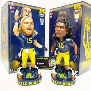 """CHASE WINOVICH DEVIN BUSH JR Michigan Wolverines NCAA """"Exclusive"""" Bobblehead Lot"""