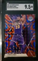 2019-20 Panini Mosaic #8 LeBron James Blue Reactive Prizm SGC 9.5 Mint