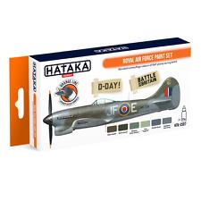 WW II RAF Pintura Set (para Spitfire, Huracán, tifón, Mustang, etc.) #CS-07 Hataka