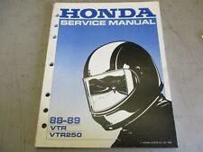 Honda VTR 250 shop manual 1988-89