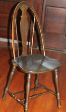 Imperial 1939 Bow Splat Back Saddle Seat Wooden Windsor Kitchen Chair Double H