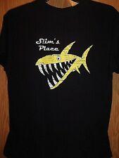 Anna Marie Island Slims Place sports food music black L t shirt