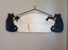Custom Hand Carved Black Bear Sign (Made to Order)