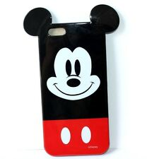 For iPhone 6 / 6S - HARD RUBBER TPU GUMMY SKIN CASE RED BLACK MICKEY MOUSE EARS