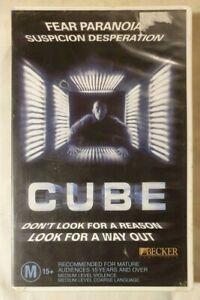 Cube VHS 1997 Sci-Fi/Horror Vincenzo Natali 1998 Becker / Universal (Ex-Rental)