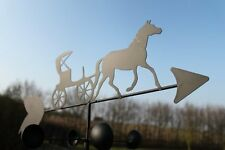 HORSE & CARRIAGE steel weathervane with ground spike and wall fixing-ON OFFER!