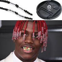 100x Transparent Dreadlocks Hair Ring Hair Braid Beads Cuffs Clips 6mm Hole J DD