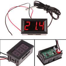 DC 12V LED Digital Thermometer Temperature Meter Probe -50~110C Detector Sensor