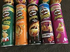 Pringles Pringles Bundle Of 5  Flavour Crisps 200g Each Tube Brand New Sealed