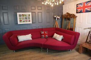 Ligne roset yang model sectional corner sofa pink wool