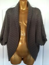 Jane Norman Ladies Brown Sparkle Angora Wool Mix Bolero Cardigan/Shrug One Size