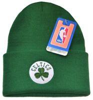 Boston Celtics NBA Green w/ Logo Cuffed Knit Hat Cap Ski Snow Winter Beanie