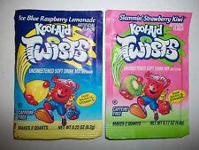 Vintage Kool-Aid Twists Packets Points Raspberry Lemonade Strawberry Kiwi Lot 1
