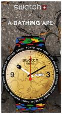 NIB Swatch X Bape Big Bold 2020 Limited Edition Watch, BLACK