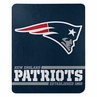 "New New England Patriots NFL Split Wide Fleece Throw Blanket Large Size 50""x60"""