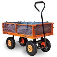 FUXTEC Bollerwagen Handwagen Gerätewagen Transportwagen Transportkarre