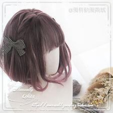 Cosplay Harajuku Daily Wig Lolita Purple Pink Gradient Girl's Bobo Short Hair