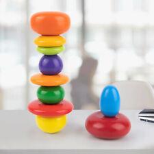 Holz Balancing Stacking Stone Puzzle Bausteine Rocks Buntes Spielzeug