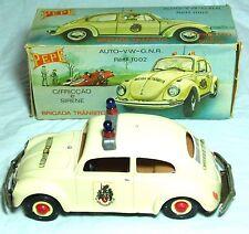 Coffret friction drive pepe portugal vw beetle police patrol car jouet
