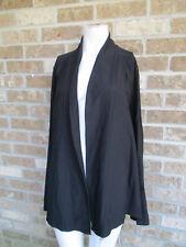 Women's Eileen Fisher Black Knit top / Cardigan / Blazer jacket Plus sz 1X
