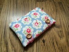 Handmade in Cath Kidston Blue Provence Rose - iPad 4 / 3 / 2 Fabric Padded Case