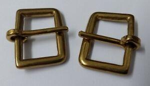 "Genuine British Army Horse Guards & H Cav Brass 1"" Bridle Buckles 1 Pair STD30"
