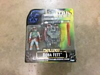 Vintage 1996 Star Wars green Deluxe Boba Fett figure, free shipping, 69638