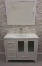 40 white bathroom vanity w/ ceramic top