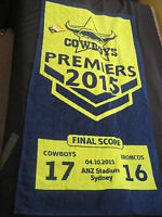 NRL NORTH QUEENSLAND COWBOYS 2015 PREMIERS BEACH TOWEL 150x74cm - NEW with tags