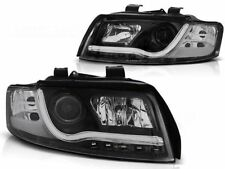 HEADLIGHTS LPAU88 AUDI A4 SALOON ESTATE 2000 2001 2002 2003 2004 LED TUBE BLACK