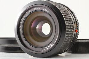 Rare MINT] Minolta New MD 28mm f/2 Wide Angle Lens + Hood SR Mount From JAPAN
