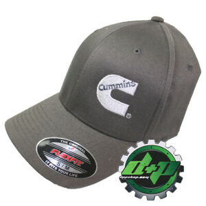 Dodge Cummins Charcoal Gray Ball cap fitted flex fit stretch cummings Hat s/m