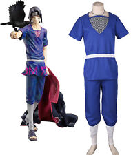 Japanese Anime Naruto Uchiha Itachi Cosplay Costume with Necklace Custom made