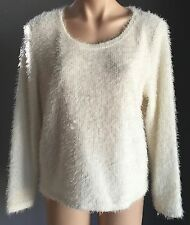 "Lush NWOT TEMT Shell ""Fluffy"" Super Soft Long Sleeve Knit Jumper Size XL/14"