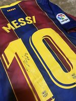 camiseta Barcelona Liga Leo messi firmada Jersey Signed Handsigned
