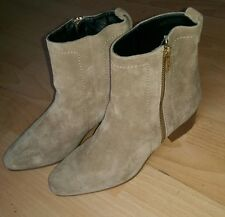 LK BENNETT WOMENS SUEDE LEATHER ANKLE BOOTS SAND/BEIGE SHOES SIZE UK 6 EU 39 NEW