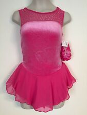 Figure Skating New Competition Dress Child L 10 Ice Skate Pink Nwt Sleeveless