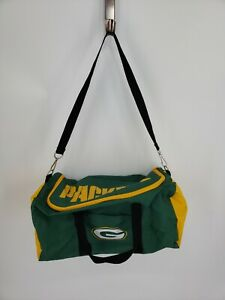 GREEN BAY PACKERS Vintage Duffel Bag Gym Tote Carry On with Straps
