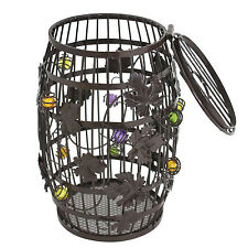 "10"" Wine Collection Wine Cork Cage Barrel Shaped Storage Bottle Holder Decor Bar"