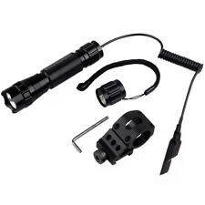 1000LM LED Tactical Flashlight with Pressure Switch Picatinny Mount for Rifle