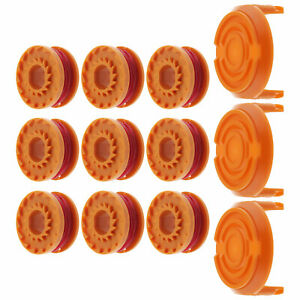 Strimmer Trimmer Spool and Cap Kit Compatible with Worx WA0010 WA6531 50006531