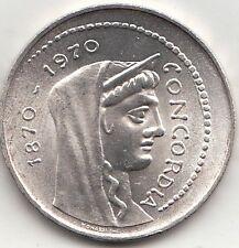 ITALIA 1000 LIRE ARGENTO SILVER 1970 CONCORDIA PREZZO REGALO Fior di conio FDC