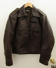 Mens Vintage HARLEY DAVIDSON AMF Brown Leather Motorcycle Jacket ~ 40