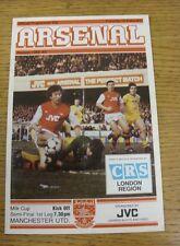 15/02/1983 Football League Cup Semi-Final: Arsenal v Manchester United  (Crease,