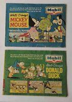 Mobil Service Stations Disney Comics Promo Give Away. Set Of 2