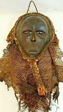 Masque Tshokwe Chokwe Wooden Textile Mask African Africa Tribal Art