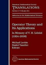 Operator Theory and Its Applications (American Mathematical Society Translation