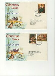 1967 CHRISTMAS - MANCHESTER CDS PHOSPHOR FDC SET FROM COLLECTION N20