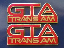 87-92 Pontiac Firebird Trans Am GTA Fender Badge Pair (11 colors)